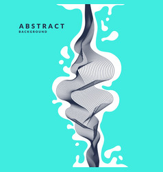 Abstract background with dynamic linear waves and vector