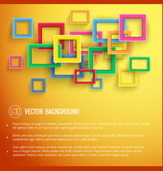 abstract trendy digital poster vector image