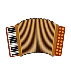 Accordion musical instrument vector