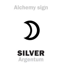 Alchemy silver argentum vector