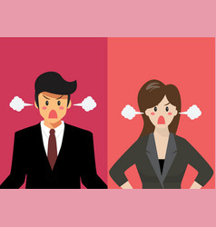 angry business man and woman vector image