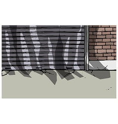 Back Alley Scene vector image