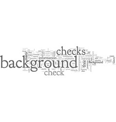 background checks a detailed guide vector image