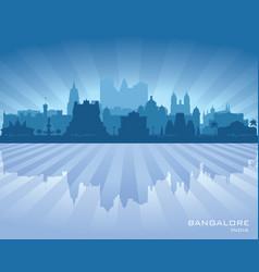 bangalore india city skyline silhouette vector image