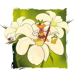 Bee the artist vector image
