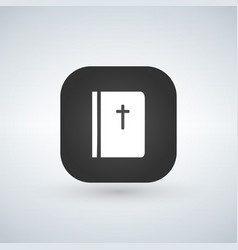 Bible application for mobile phone isolated on vector