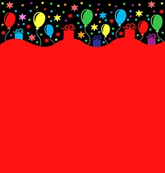 Birthday long black vector