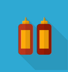 bottle of sauce icon set of great flat icons vector image