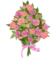 Bouquet roses vector