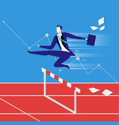 Business steeplechase concept vector