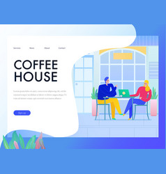 cafe flat design banner vector image