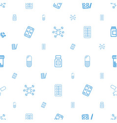 Capsule icons pattern seamless white background vector