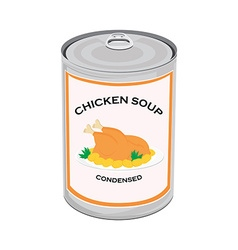Chicken soup can vector image