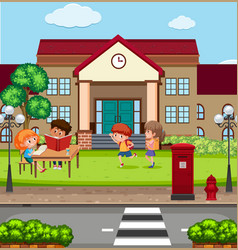children at the school vector image