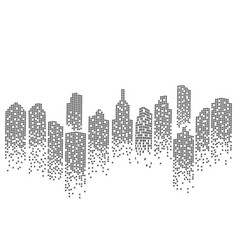 city skyline backgroud vector image