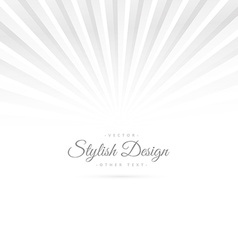 clean white background with rays vector image