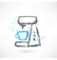coffee maker grunge icon vector image