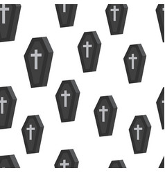 coffin seamless pattern vector image