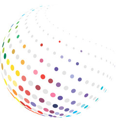 Colorful globe with halftone vector