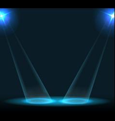 Concert lighting against a dark background vector