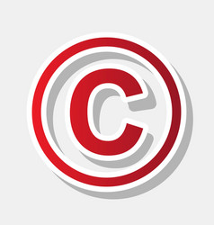 Copyright sign new year vector