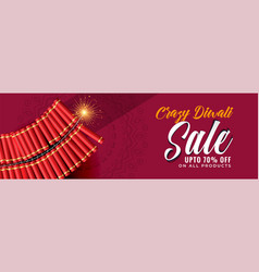 Crazy diwali sale banner template vector