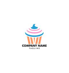 cupcake logo template vector image