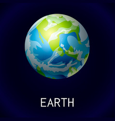 earth space icon cartoon style vector image
