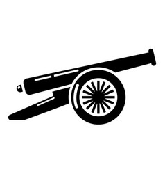 Enemy cannon icon simple style vector