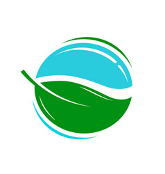 Environmentally friendly product logo or icon vector