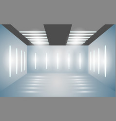 exhibition empty 3d room with bright lighting vector image