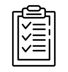 Export check sheet icon outline style vector