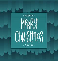 festive merry christmas design vector image