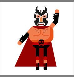 Fighter lucha libre mexican wrestler battle vector