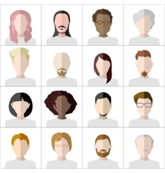 Flat people icons Set of stylish people icons vector image