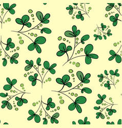 floral background with green leaves and vector image vector image