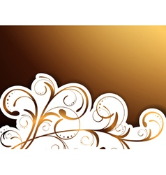 Floral decorative border vector