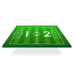 Football pitch isometric vector