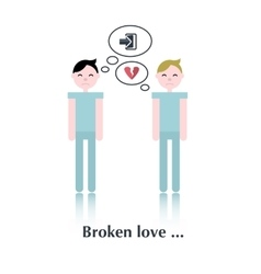 Gay relationship icon vector