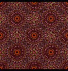 Geometrical seamless bohemian mandala mosaic vector
