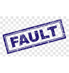 Grunge fault rectangle stamp vector