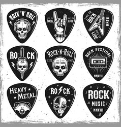 Guitar picks or mediators elements vector