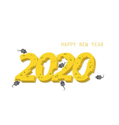 happy new year with inscription 2020 to new vector image