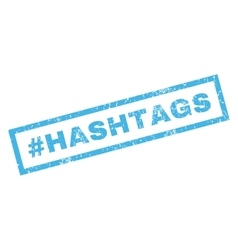 Hashtag Hashtags Rubber Stamp vector