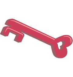 heart shape vintage key icon vector image
