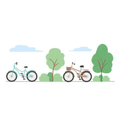 Isolated vintage bikes design vector