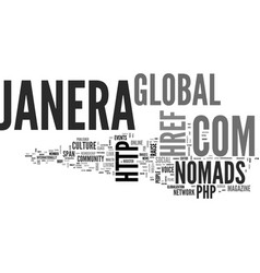 Janera global nomads global culture magazine txt vector