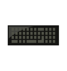 keyboard device icon vector image