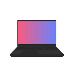 laptop flat icon electronics on white background vector image