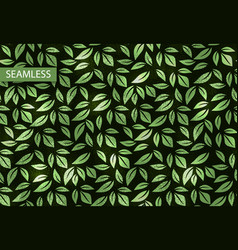 leaf neon texture seamless pattern vector image